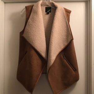 Shearling and Suede Vest